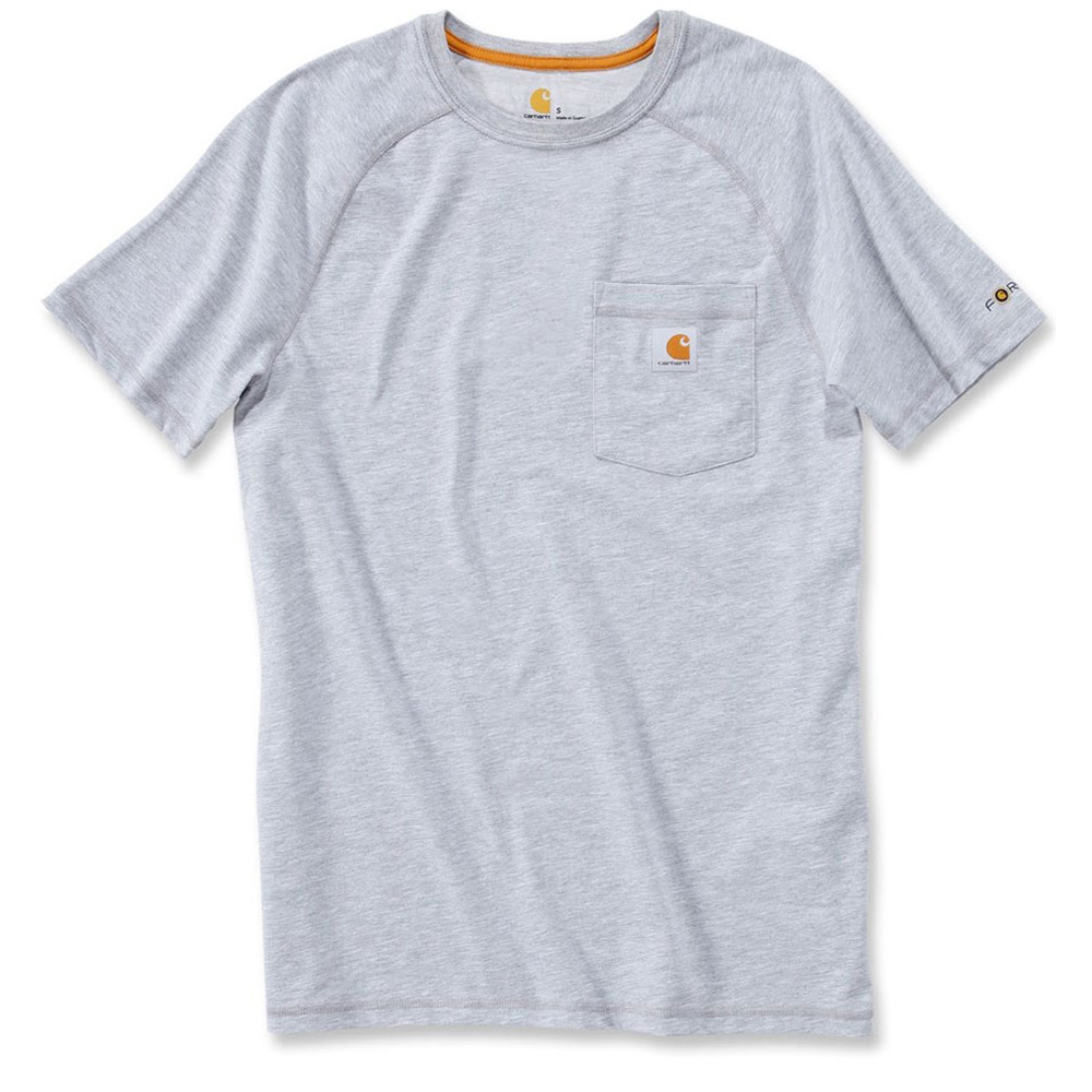 Product image of Carhartt Mens Force Short Sleeve T Shirt Carbon Heather 100410