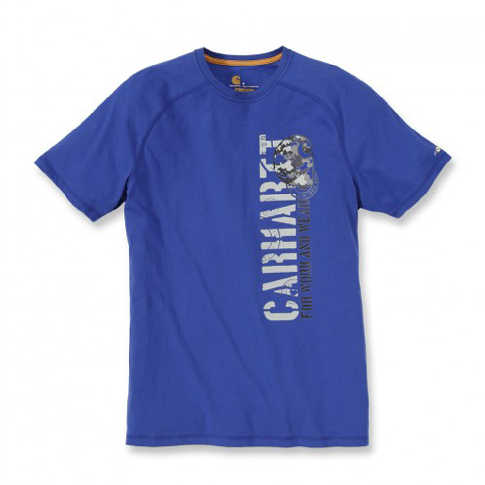 Product image of Carhartt Mens Force Graphic Camo C Short Sleeve T Shirt Nautical Blue