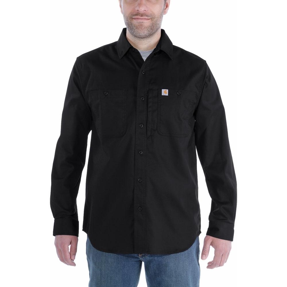 Carhartt Mens Rugged Prof Long Sleeve Button Work Shirt Xxl - Chest 50-52 (127-132cm)