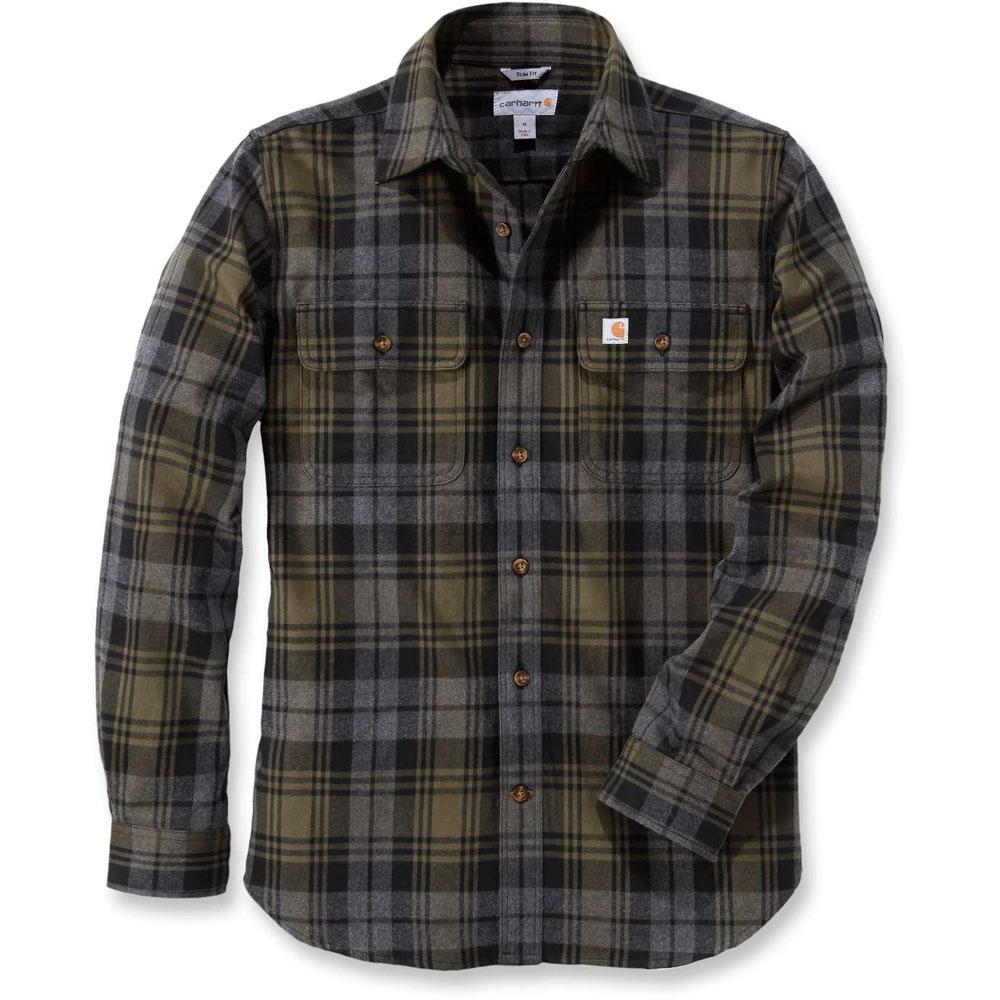 Carhartt Mens Long Sleeve Hubbard Slim Fit Chest Pocket
