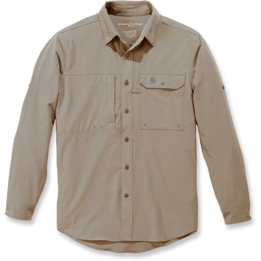Carhartt Mens Force Extremes Angler Button Long Sleeve Shirt Xxl - Waist 44-46 (112-117cm)