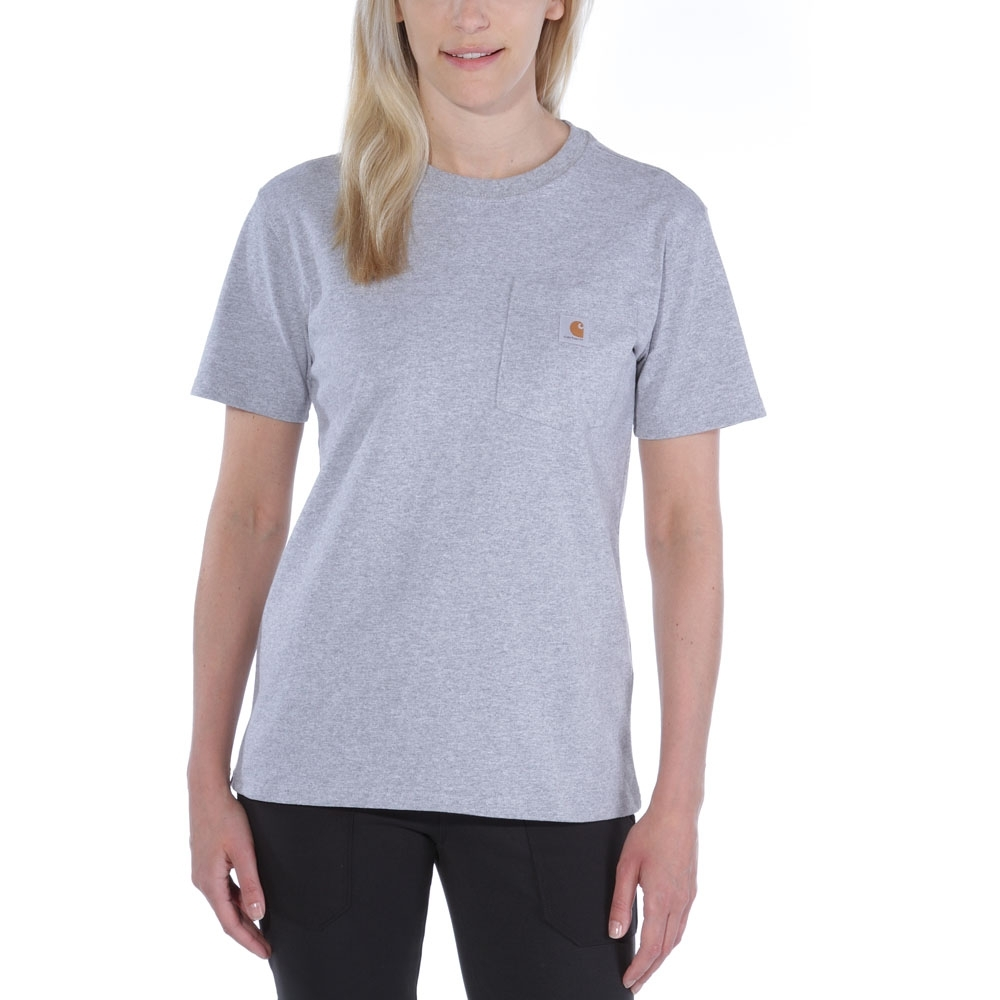 Image of Carhartt Womens Pocket Workwear Ribknit Short Sleeve T-Shirt M - Bust 36-37' (91-94cm)