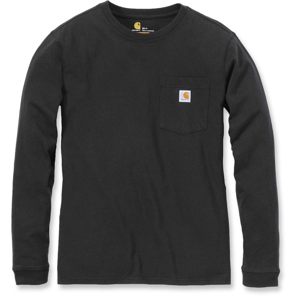 Carhartt Womens Pocket Workwear Rib Knit Long Sleeve T Shirt L - Bust 38.5-40 (98-102cm)