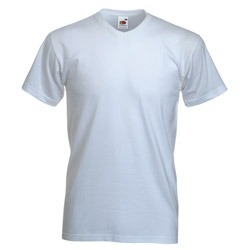 Product image of Fruit of the Loom High V-Neck Valueweight T Shirt