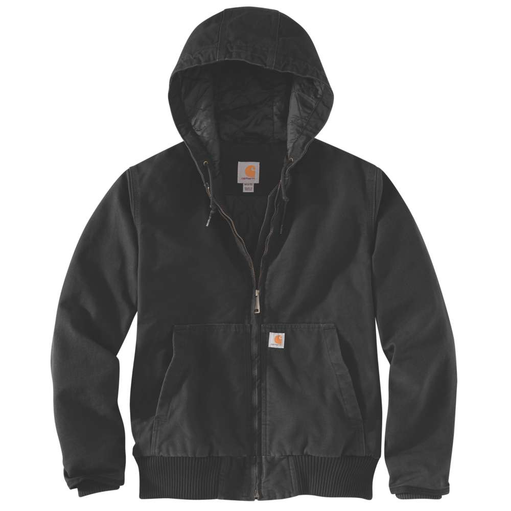 Carhartt Womens Washed Duck Hooded Active Work Jacket Coat M