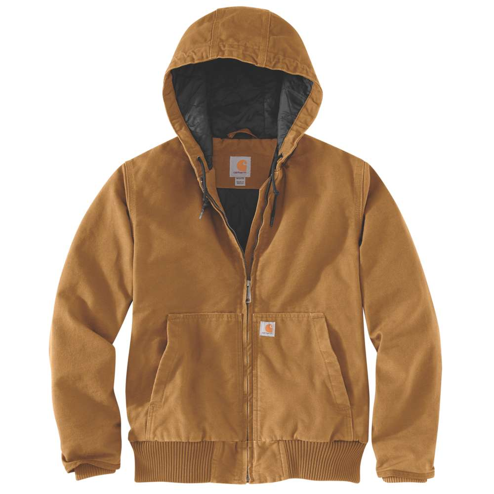 Carhartt Womens Washed Duck Hooded Active Work Jacket Coat L