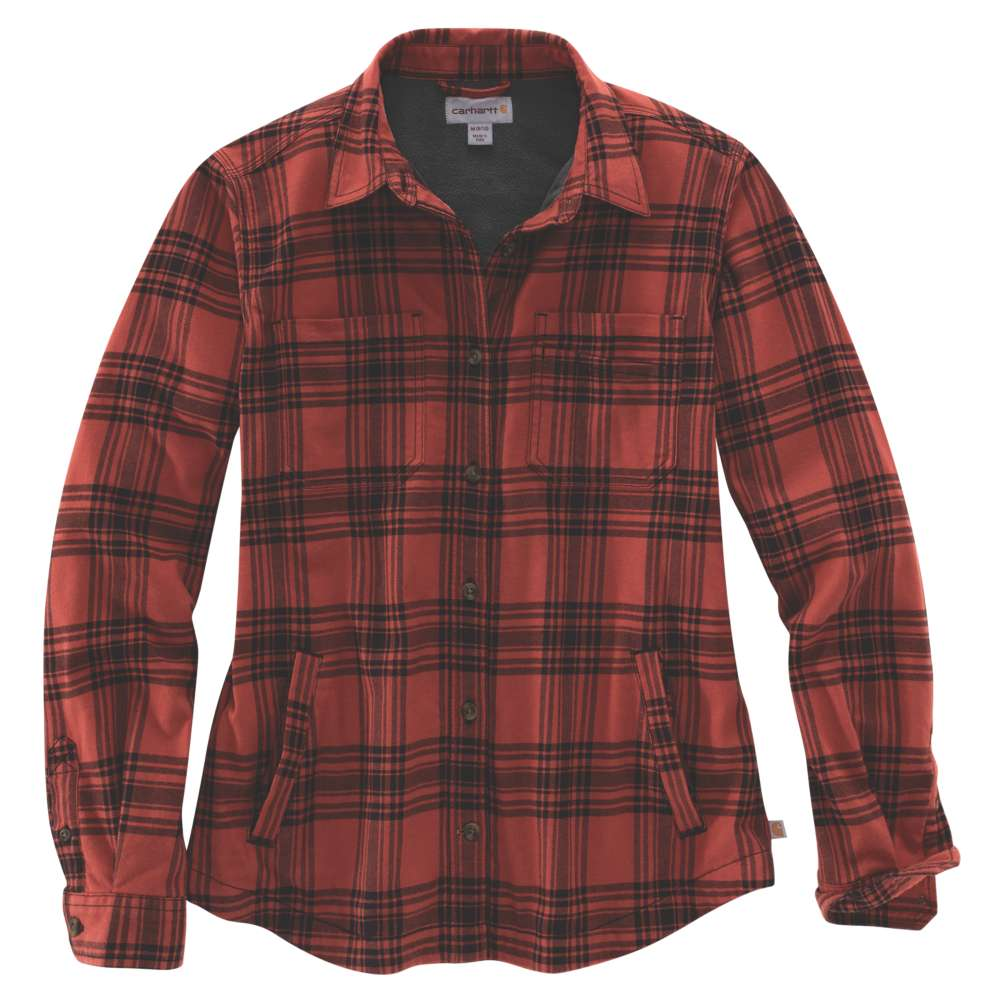 Carhartt Womens Hamilton Plaid Flannel Work Shirt Jacket S -