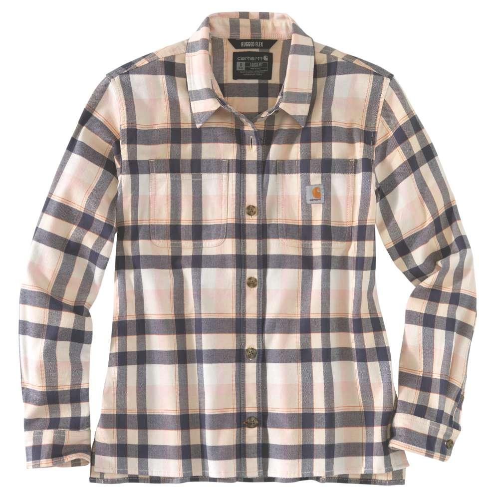 Carhartt Womens Rugged Flex Flannel Loose Fit Shirt XL -