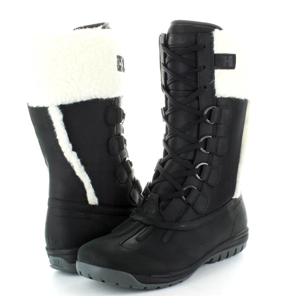 Helly Hansen Womens Freyja 3 Leather & Fleece Winter Boot Black / Ebony