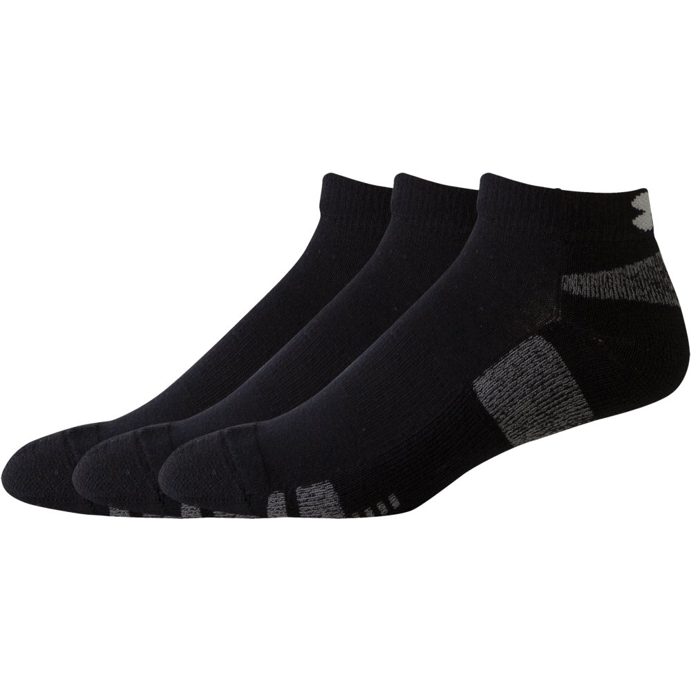 Product image of Under Armour Mens Heatgear Wicking Anti Odour Low Cut Socks - 3 Pack M (UK 3-7.5)