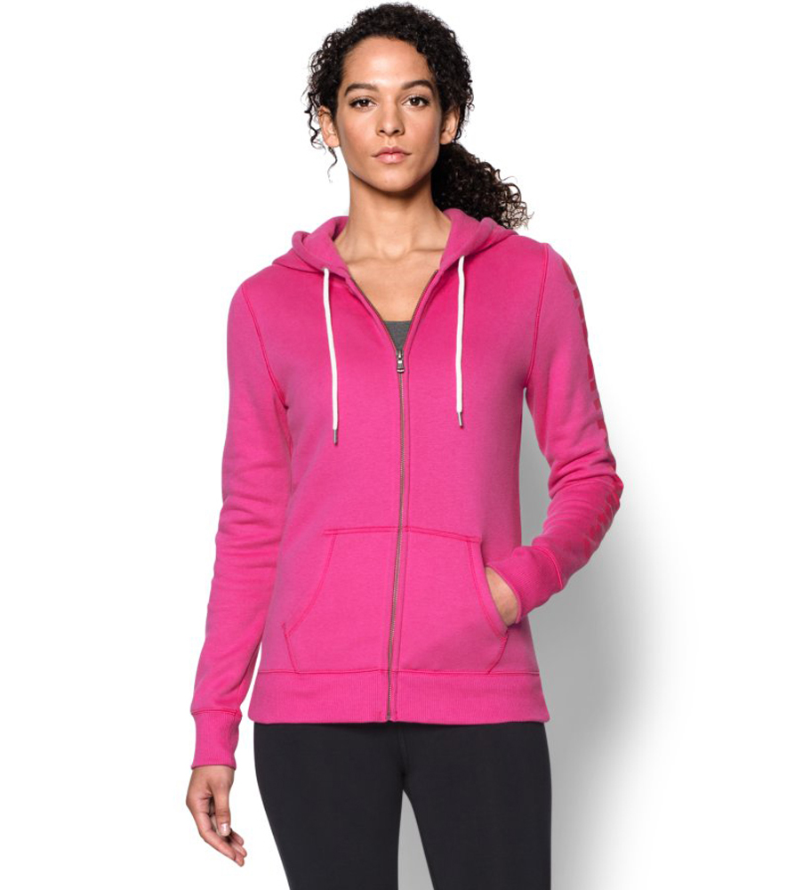 Product image of Under Armour Ladies Storm Rival Cotton Full Zip Hoody Hoodie  Pink
