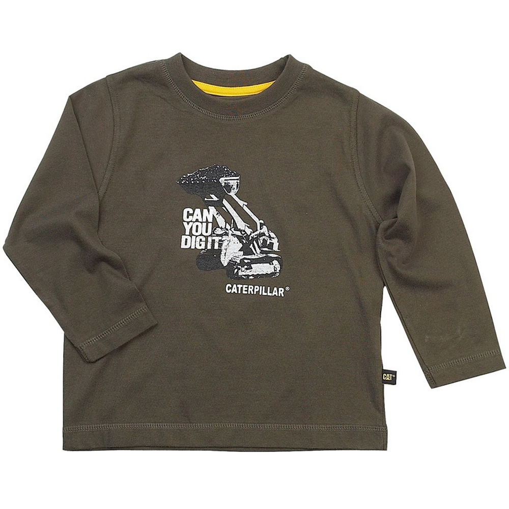 Product image of Caterpillar Boys Can You Dig It Cotton T Shirt Green