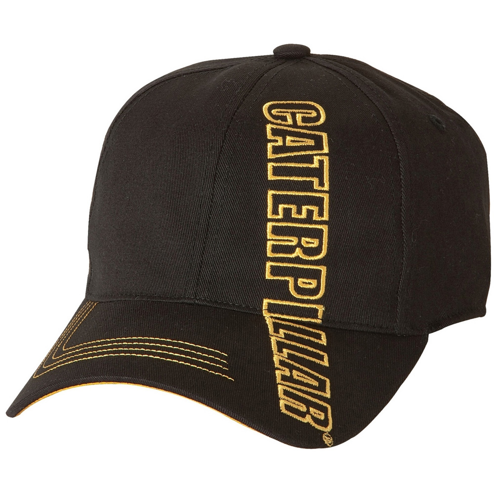 Product image of Caterpillar Mens Branded Stretch Fit Cap Black