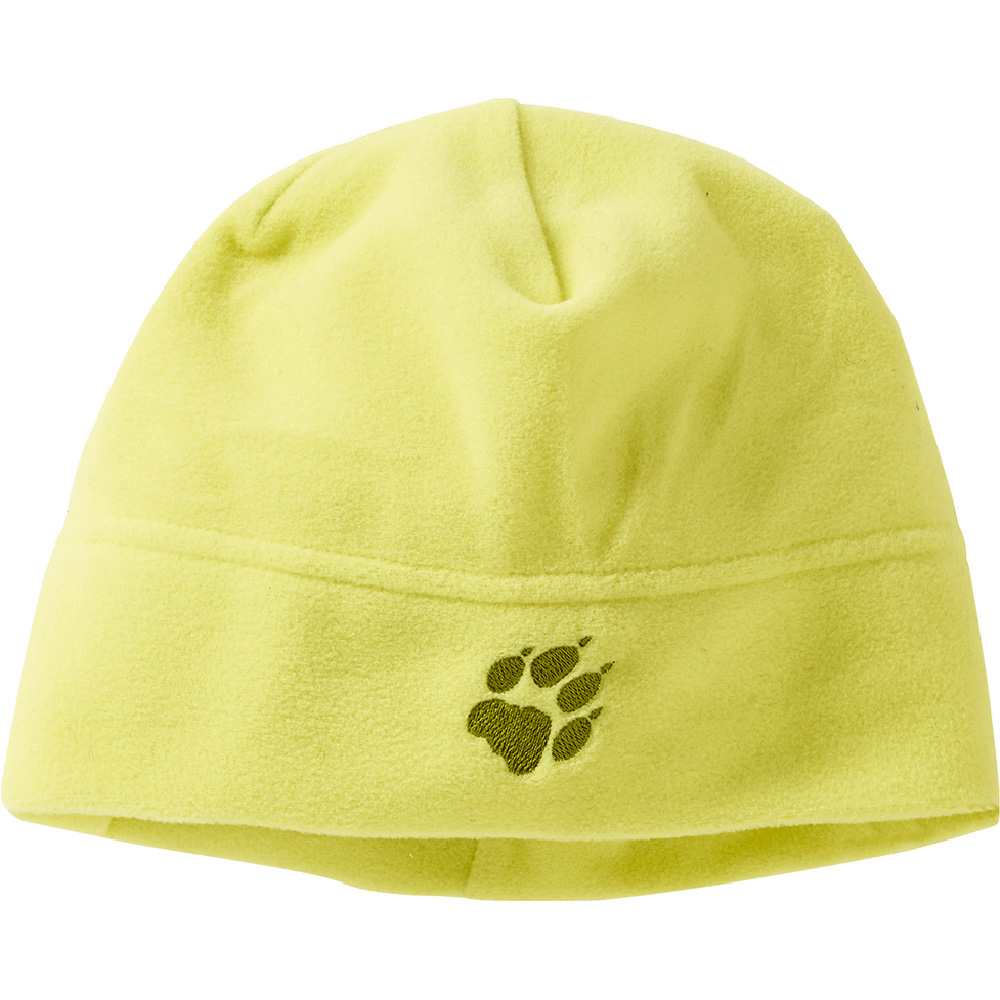 Product image of Jack Wolfskin Girls Real Stuff Fleece Embroidered Beanie Hat Yellow