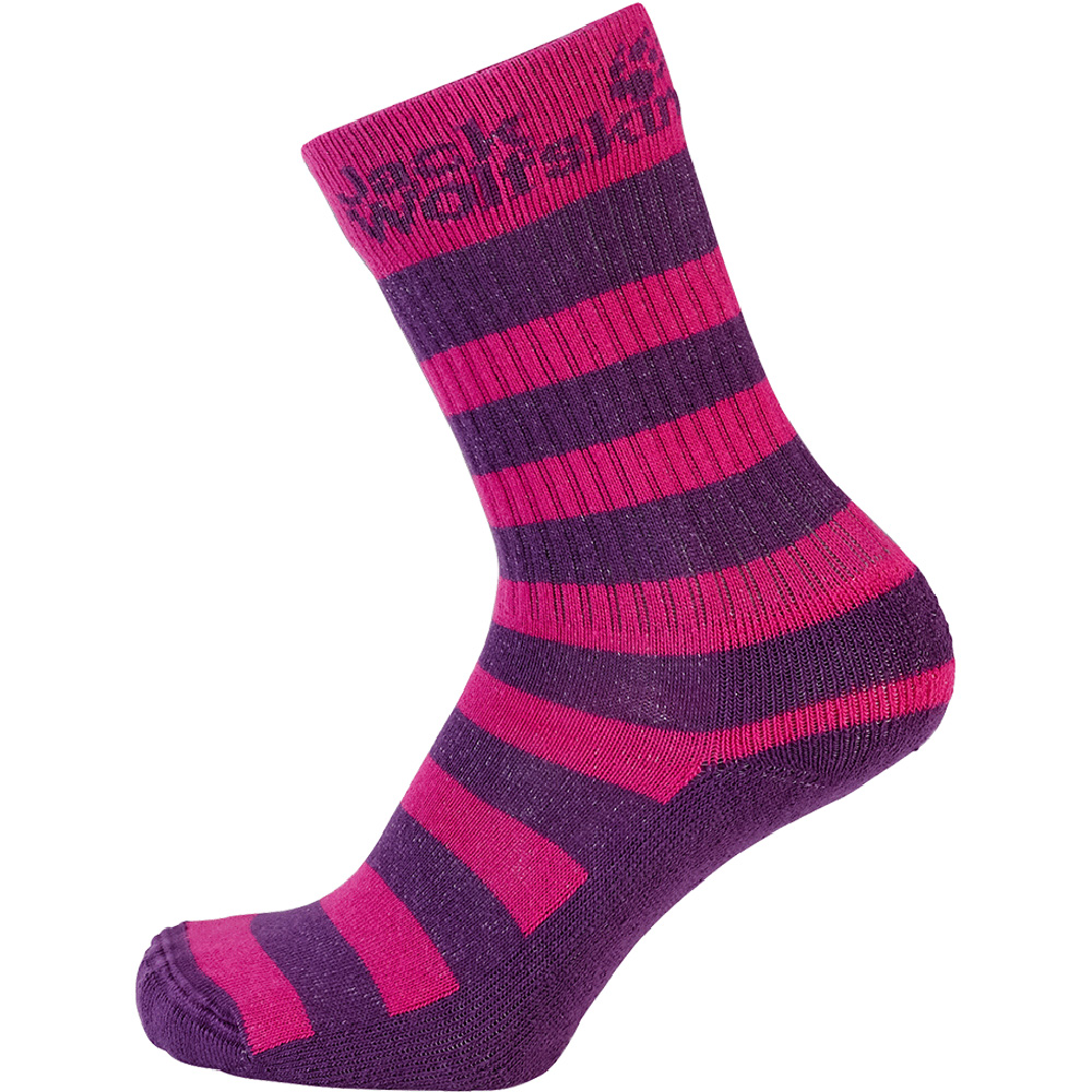 Product image of Jack Wolfskin Girls Casual Organic Classic Cotton Socks 2 Pack Pink
