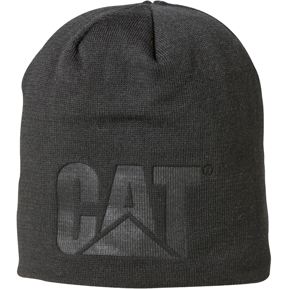 Product image of Caterpillar Mens Trademark Knitted Logo Hat Black