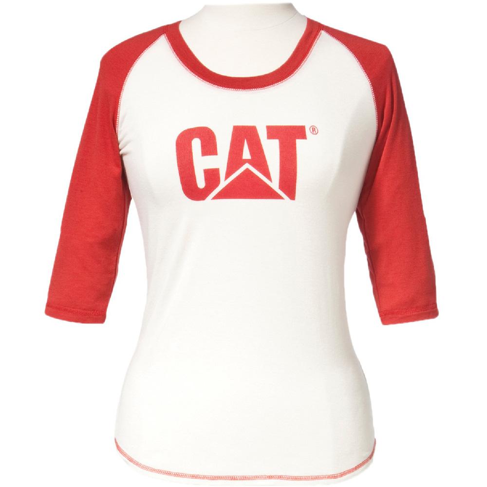 Caterpillar Ladies Trademark Baseball Contrast Raglan T
