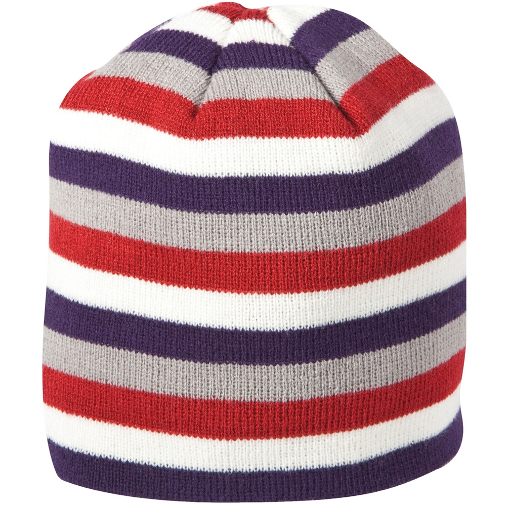 Product image of Caterpillar Ladies Stripe Knitted Beanie Hat Berry