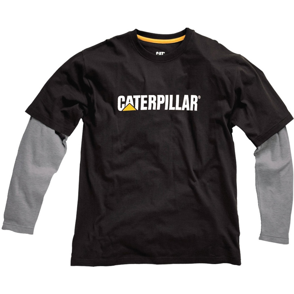 Product image of Caterpillar Boys Thermal Layered Long Sleeved Cotton T Shirt Black