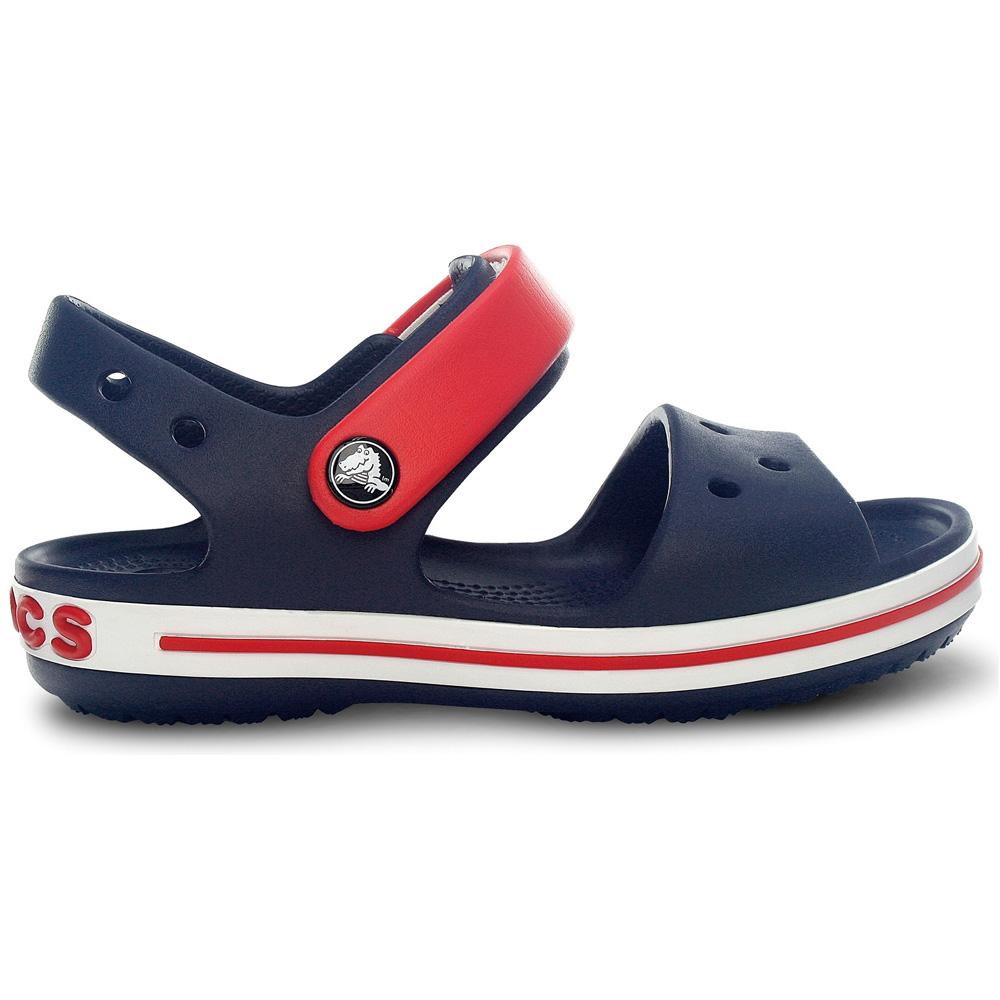 Product image of Crocs Boys Crocband Slip On Molded Croslite Anklestrap Sandals Navy