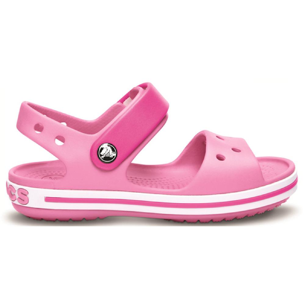 Product image of Crocs Girls Crocband Slip On Molded Croslite Anklestrap Sandals Pink