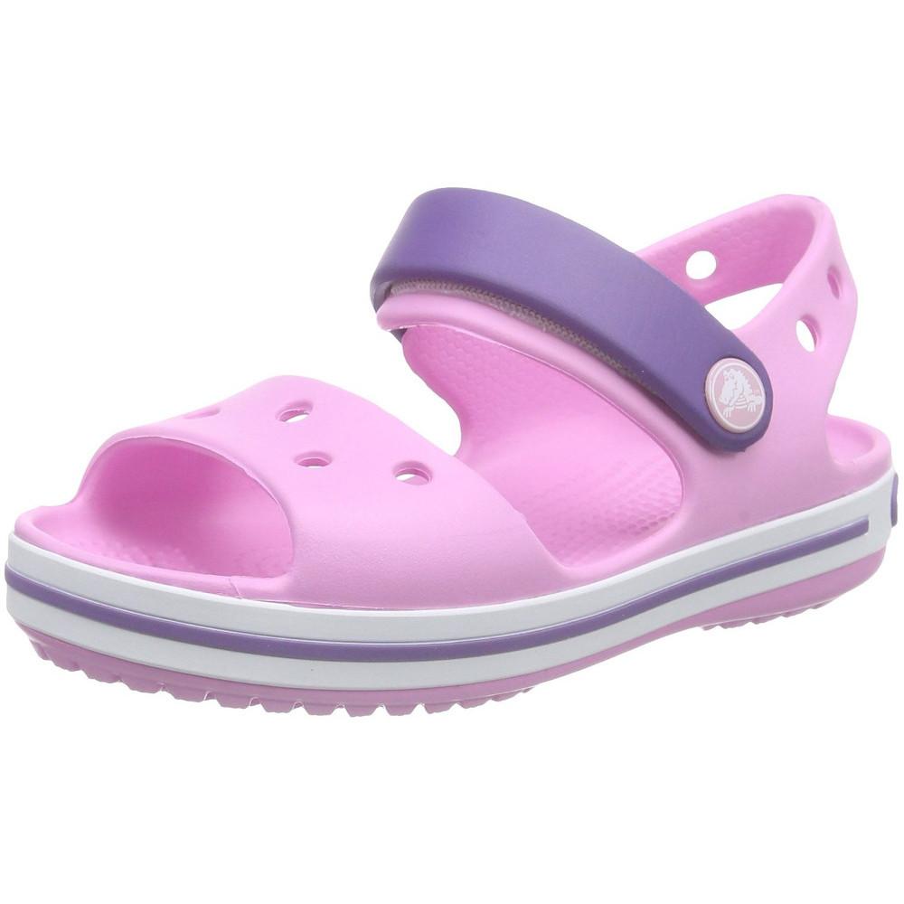 Product image of Crocs Girls/Boys Crocband Moulded Croslite Strap Fastening Sandal UK Size 1 (EU 32-33  US J1)