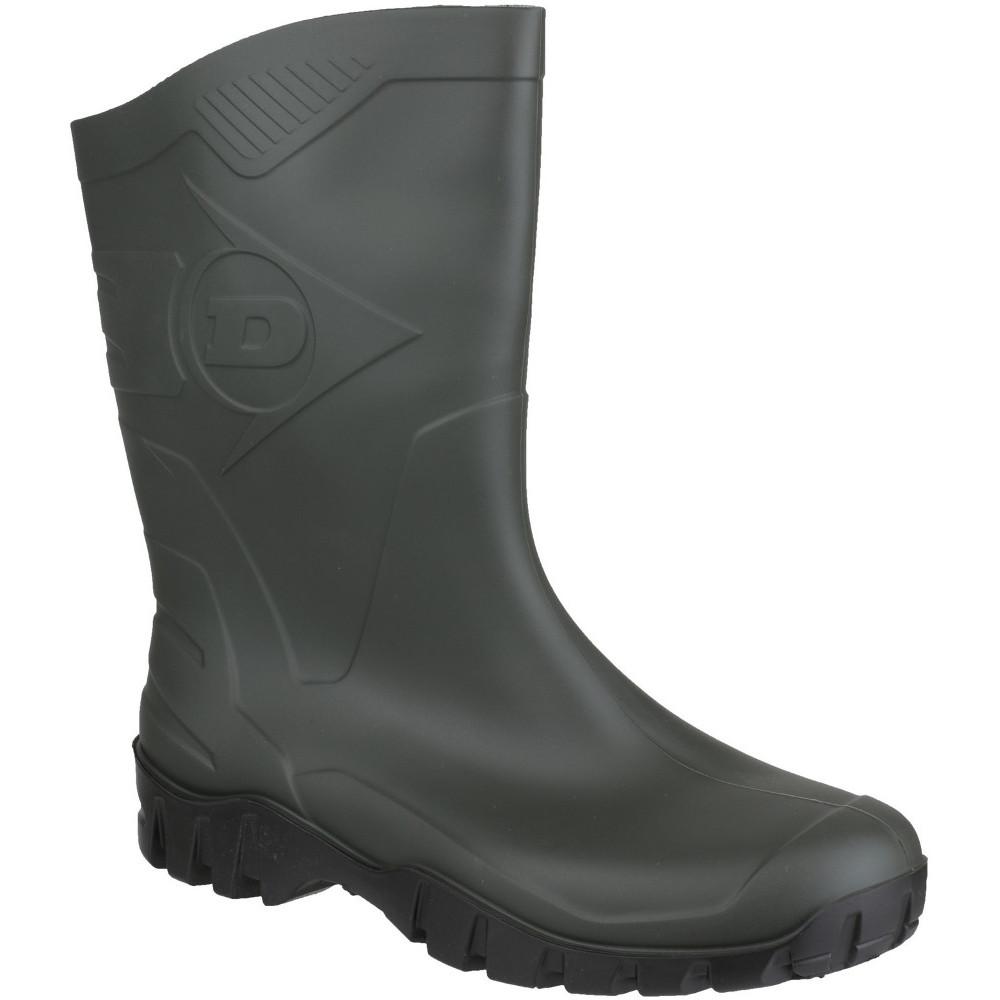 Dunlop Mens Dee Calf Height Waterproof PVC Welly Wellington