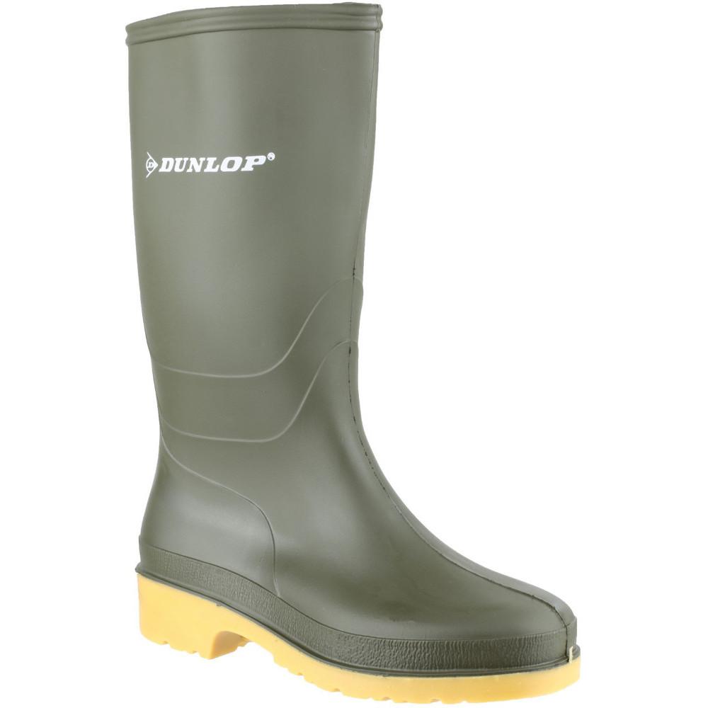 Dunlop Boys Classic Dull Waterproof PVC Welly Wellington
