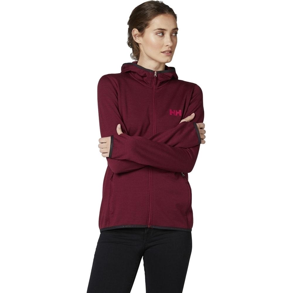 Helly Hansen Womens Merino Wool Hooded Fleece Jacket M -