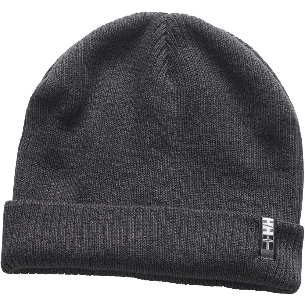 Product image of Helly Hansen Mens Brand Logo Embroidered Acrylic Beanie Hat Black