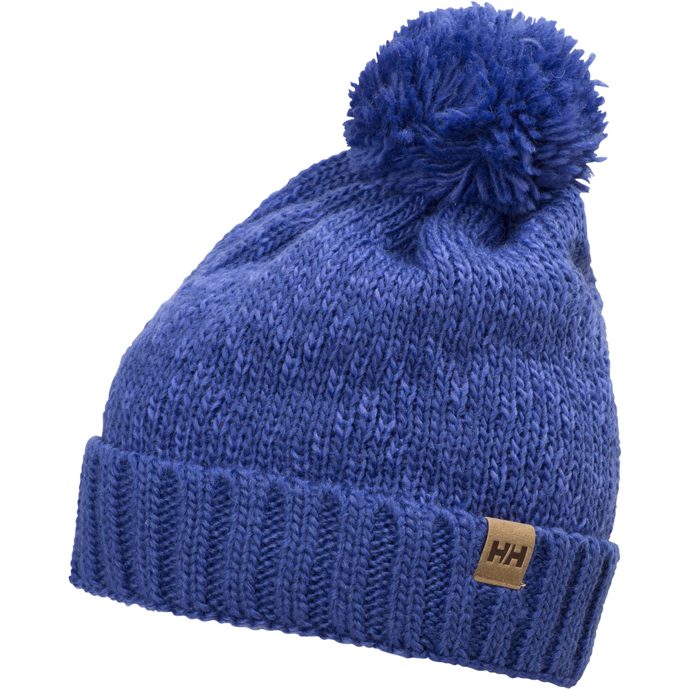Product image of Helly Hansen Ladies Heritage Wool Knit Bobble Beanie Hat Purple