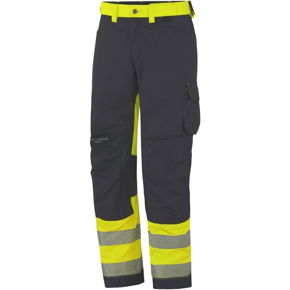 Helly Hansen Mens York Reinforced Class 1 Hi Vis Workwear Trousers C52 - Waist 36  Inside Leg 32.5