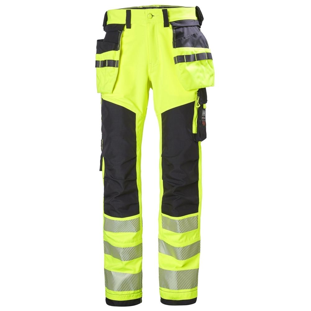Helly Hansen Mens Icu Construction Hi Vis Work Trousers C48 - Waist 33', Inside Leg 32'