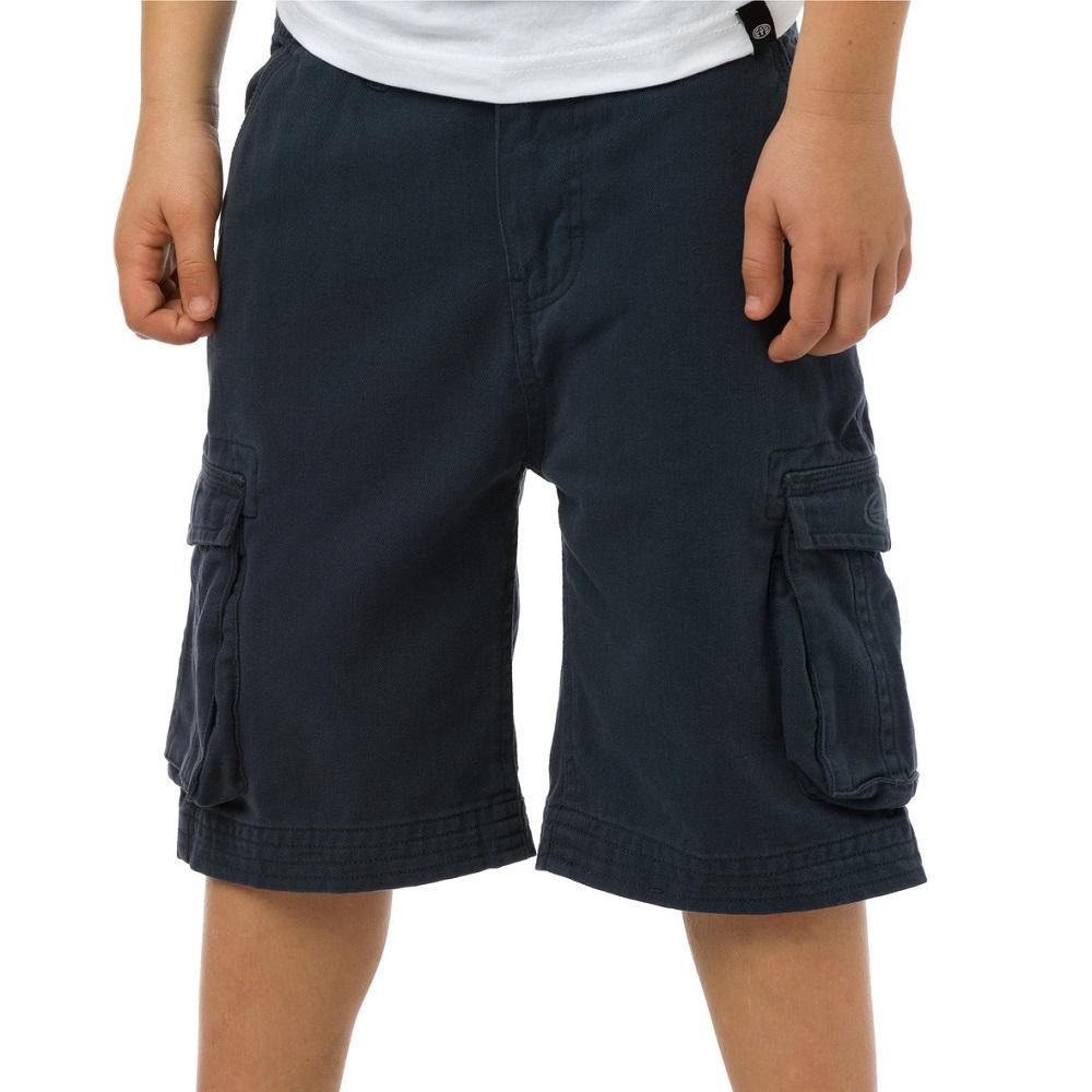 Product image of Animal Boys Antony Printed Brand Cargo Shorts CL5SG646 Navy