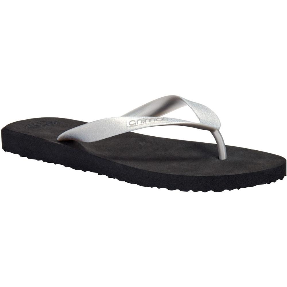 Image of Animal Womens/Ladies Cosmos Metallic Soft Moulded Flip Flop Sandals UK Size 4 (EU 37 US 5.5)