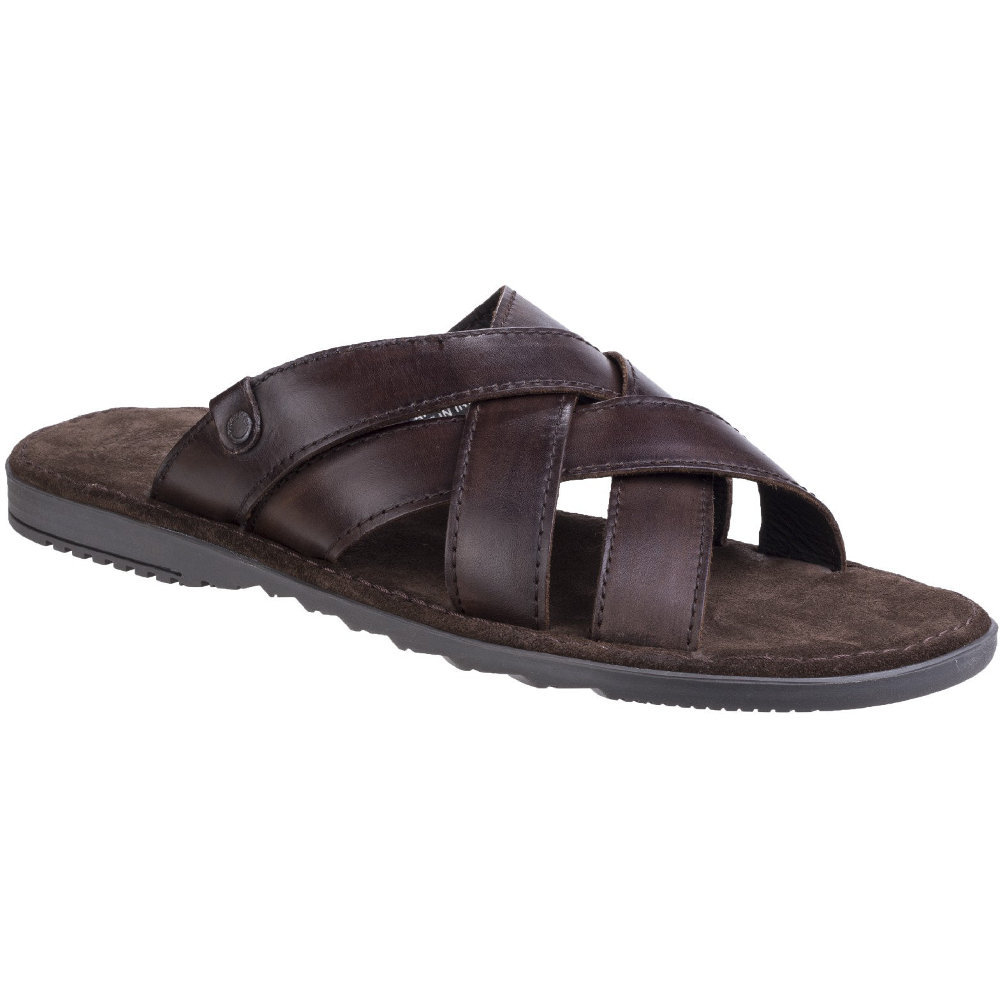 Base London Mens Apollo Washed Leather Cross Strap Summer