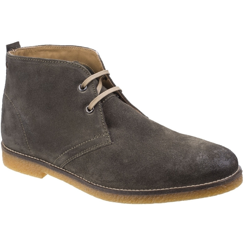 Base London Mens Perry Smart Burnished Suede Leather Desert Boots ldMhYE