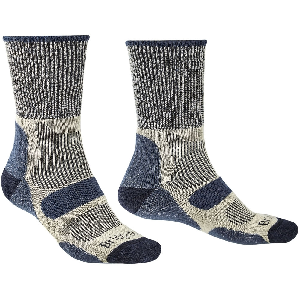 Bridgedale Men/'s Trail Sport LW T2 3//4 Socks 6 Pairs medium 6-8.5 black//green