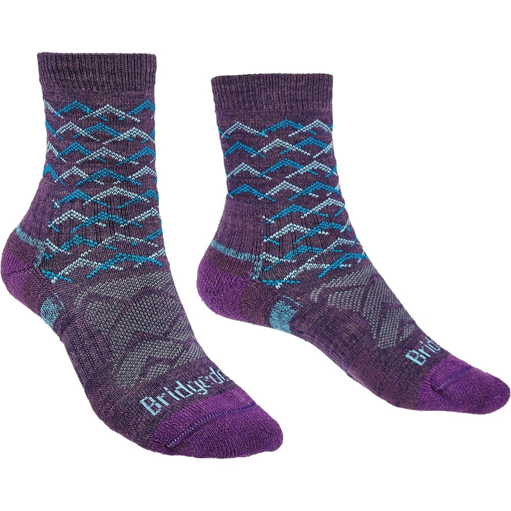 Bridgedale Womens Hike Lightweight Merino Wool Walking Socks Large - Uk 7-8.5 (eu 41-43  Us 8.5-10)