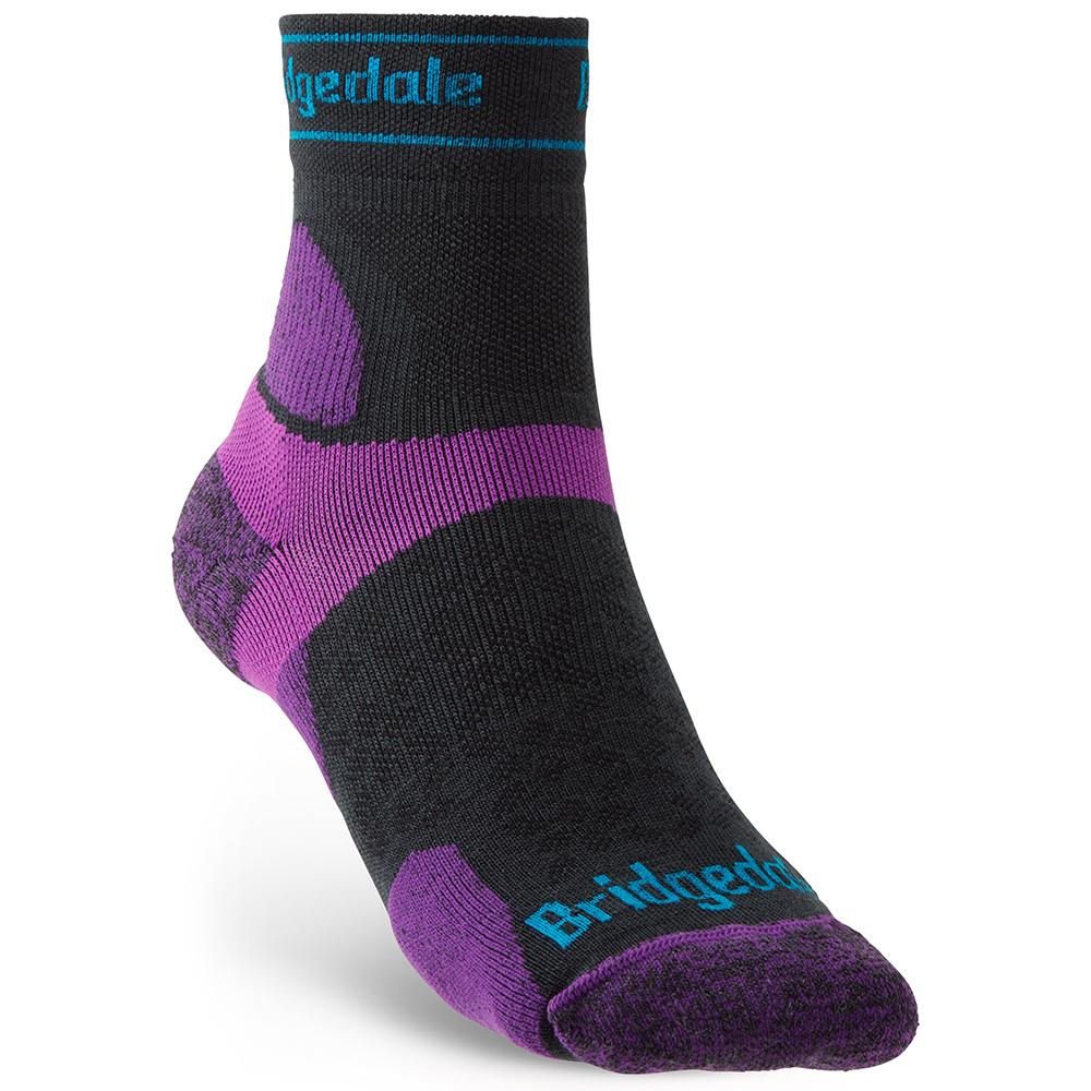 Bridgedale Womens Trail Run Ultra Light T2 Merino Socks Large - Uk 7-8.5 (eu 41-43)