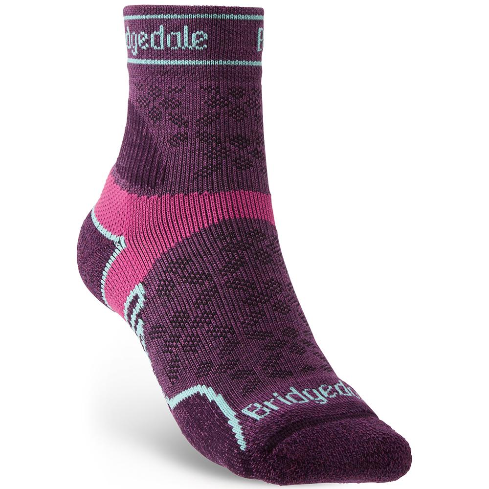 Bridgedale Womens Trail Run Light T2 Merino Sport Socks Large - Uk 7-8.5 (eu 41-43)