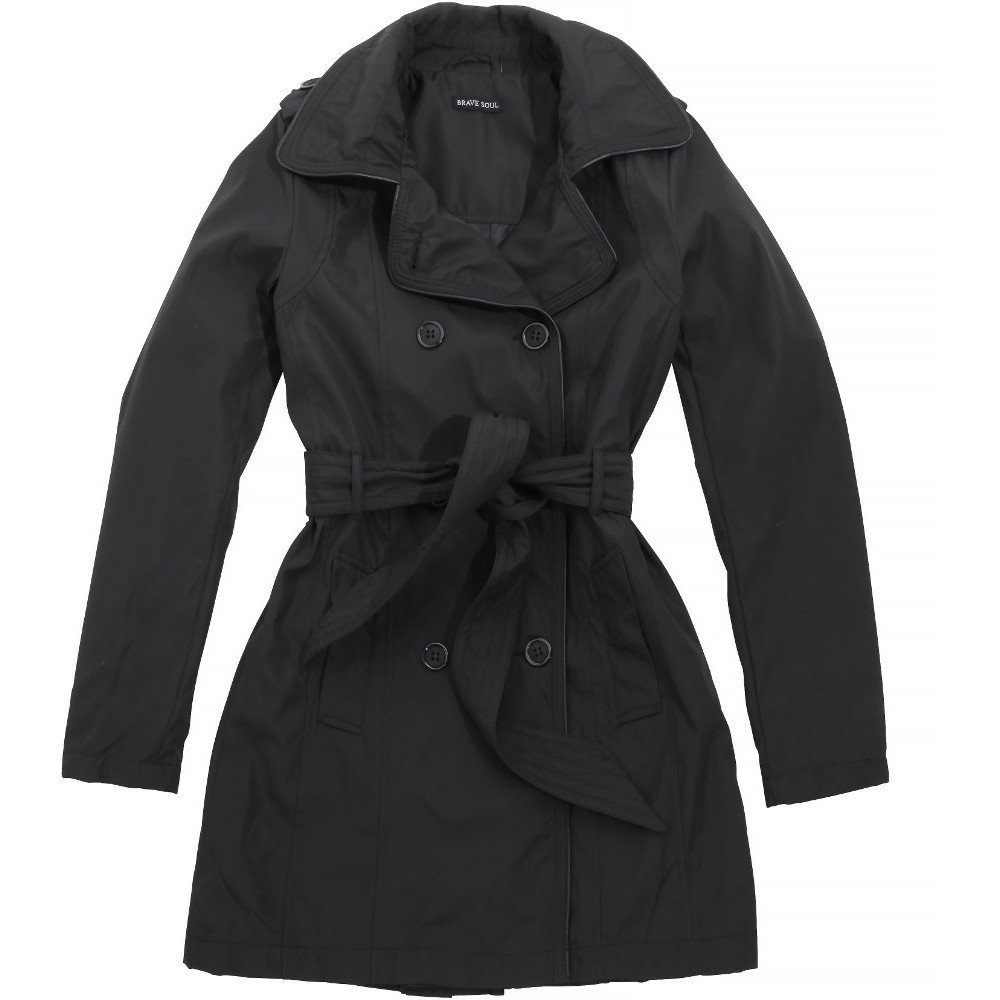 Brave Soul Womens/Ladies Gianna Fashion Fit Trench Mac