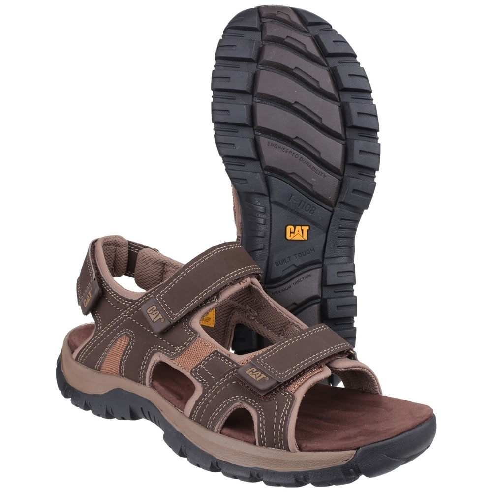 Caterpillar Mens Giles Durable Leather Adjustable Strap
