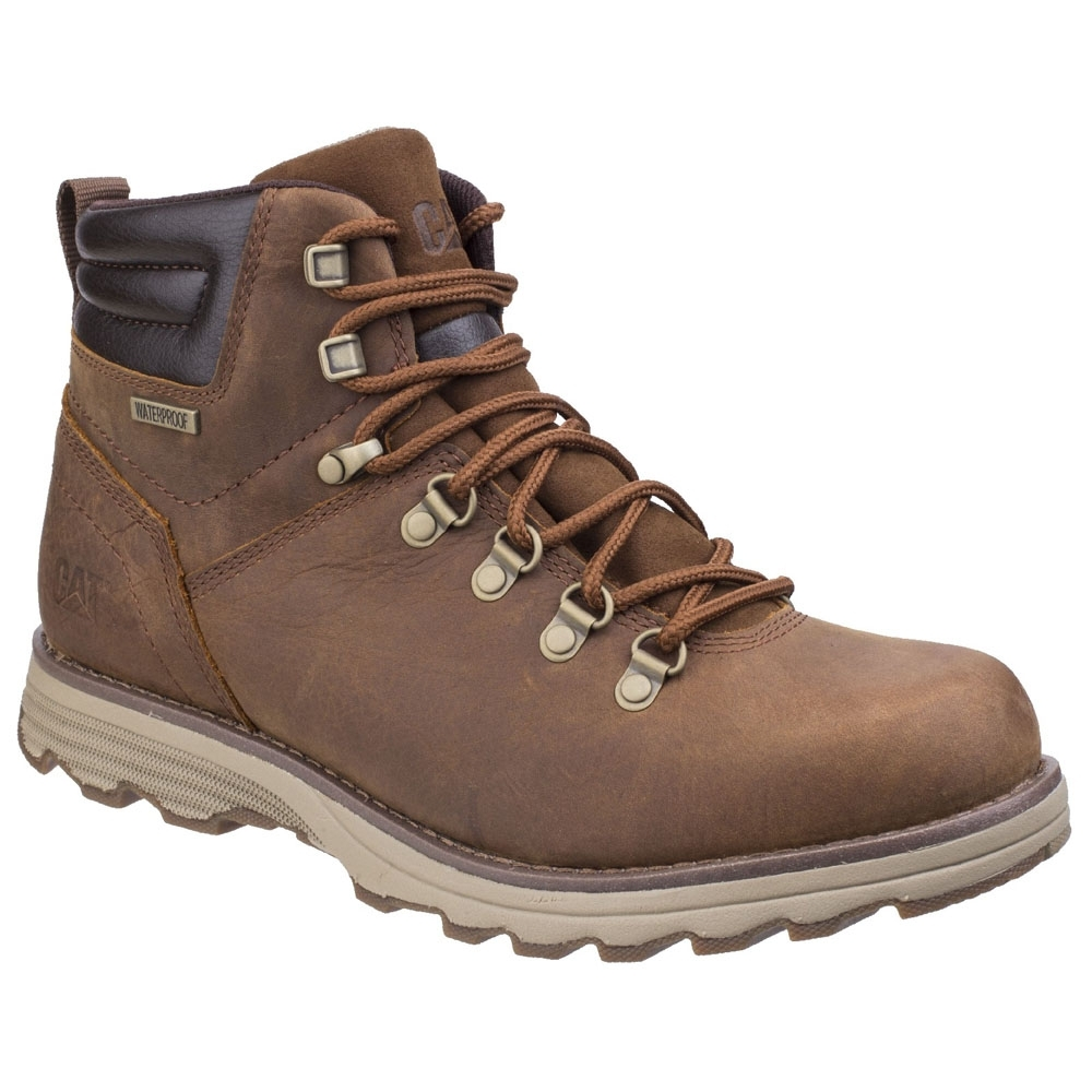 Caterpillar Mens Sire Waterproof Seam Sealed Leather Lace Up Boots UK Size 9 (EU 43  US 10)