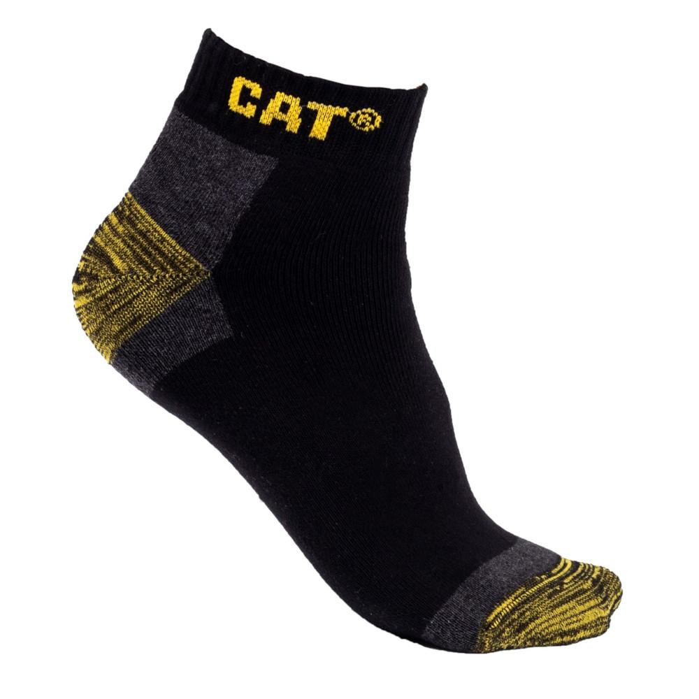 Cat Workwear Mens Premium 3 Pack Pair Trainer Work Socks Uk Size 12-14