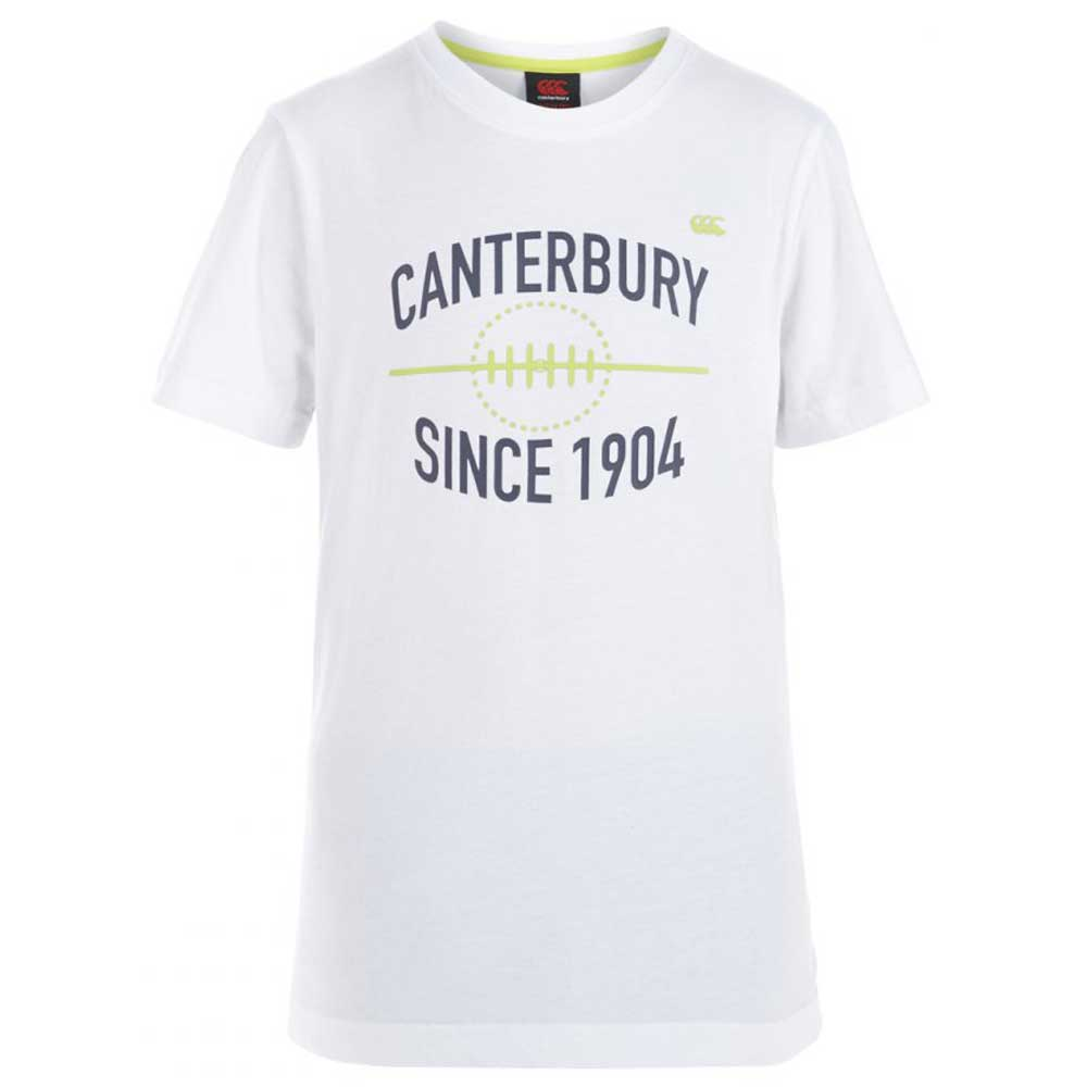 Product image of Canterbury Boys Rugby Ball Tee Cotton T Shirt E746250 White