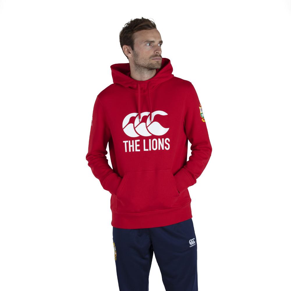 BritishandIrish Lions Mens Logo Casual Soft Fleece Hoody Xl- Chest 43-45 (109-114.5cm)