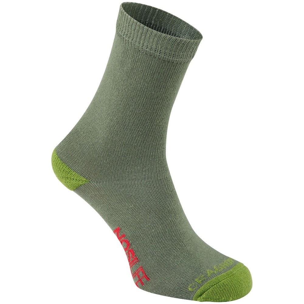 Craghoppers Boys Nosi Life Lightweight Walking Socks Uk Size 11-2 (eu 29-35)
