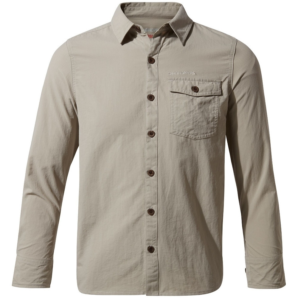 Craghoppers Boys Nosilife Emerson Durable Long Sleeved Shirt 9-10 Years- Chest 27.25-28.75  (69-73cm)