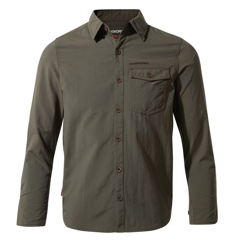 Craghoppers Boys Nosilife Emerson Durable Long Sleeved Shirt 13 Years- Chest 32.5  (83cm)